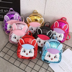 2019 children bags packbag girls cartoon design bright materials