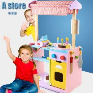 Children's wooden toy bakery life experience 1-6 years old