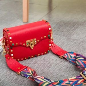 Color Coated Aluminum Coil Woman Cell Phone Wallet - Leather Handbag-Fashion Handbag-66789D-red – Zhongxi
