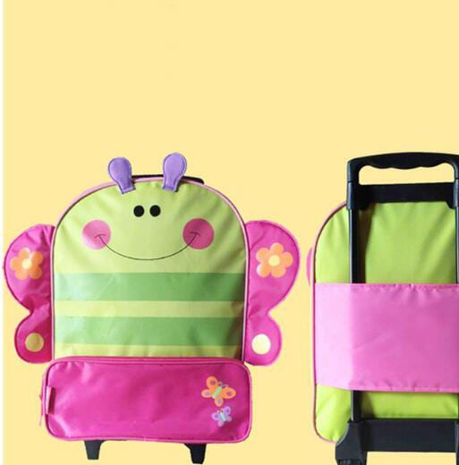Galvanized Steel Coil Travelling Backpack - Children  Suitcase-Little butterfly – Zhongxi