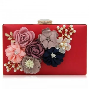 Tinplate Sheet Hard Shell Suitcase Maletas - Banquet Handbag-Flower handbag-Square-67182D – Zhongxi