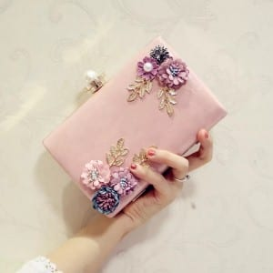 Alu-Zinc Roof Steel Sheet Women Leather Wallet Cheap Women Wallet - Banquet Handbag-Flower handbag-Square-66794D – Zhongxi
