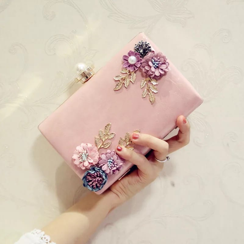 Alu-Zinc Roof Sheet Women Long Wallet - Banquet Handbag-Flower handbag-Square-66794D – Zhongxi