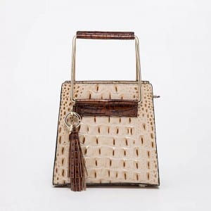Leather Handbag-Crocodile skin-67034