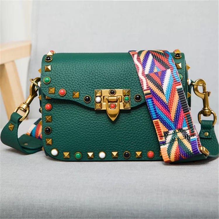 Lacquering Tinplate Custom Logo Suitcase - Leather Handbag-Fashion Handbag-66789D-green – Zhongxi Featured Image