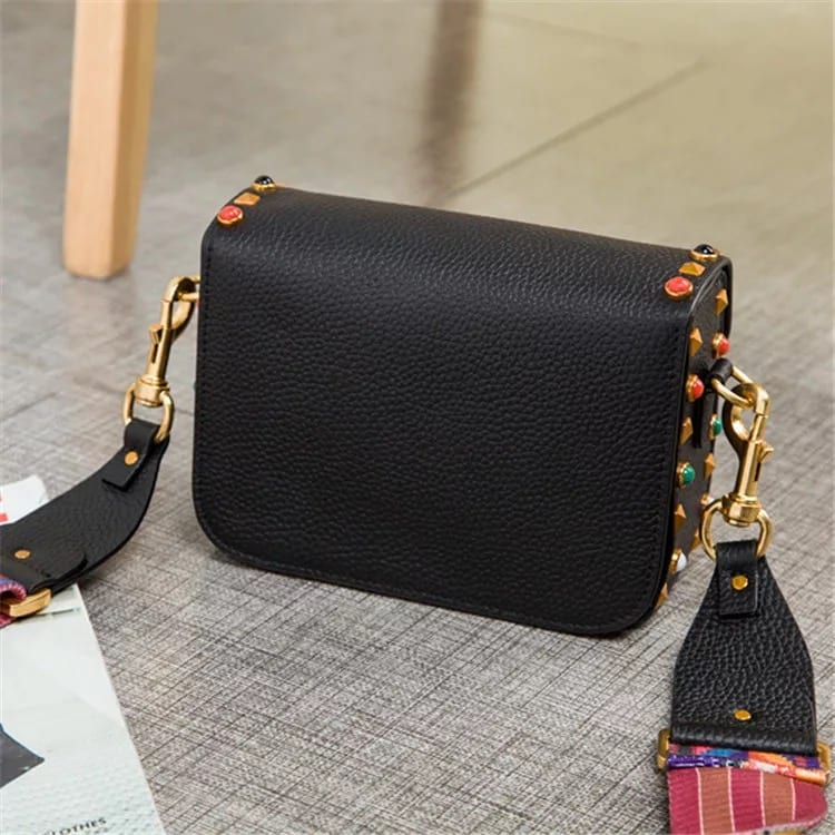 Laminated Alu-Zinc Sheet Canvas Cosmetic Pouch - Leather Handbag-Fashion Handbag-66789D-black – Zhongxi