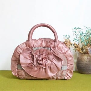 Corrugated Alloy Metal Sheet Design Lady Purse - Embroider Handbag-4 – Zhongxi