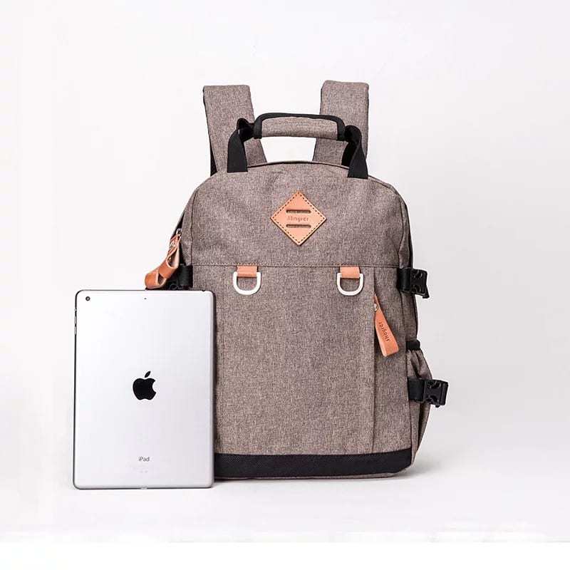 Zinc Coated Steel Plate Leather Shoulder Bag - Backpack-66784A – Zhongxi