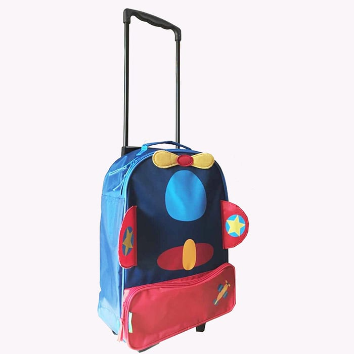 Corrugated Alloy Metal Sheet Design Lady Purse - Children  Suitcase-Little bee – Zhongxi detail pictures