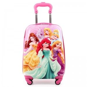Zinc Coated Steel Plate Leather Shoulder Bag - Children  Suitcase-Barbie doll – Zhongxi