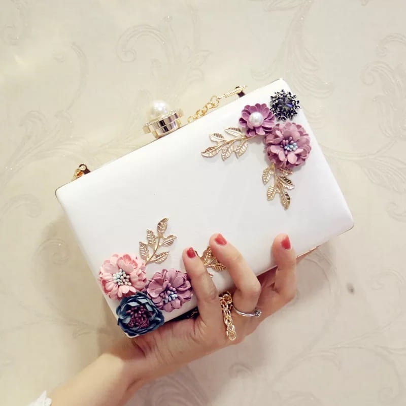 Prepainted Steel Roll Genuine Leather Ladies Bag - Banquet Handbag-Flower handbag-Square-66794D – Zhongxi