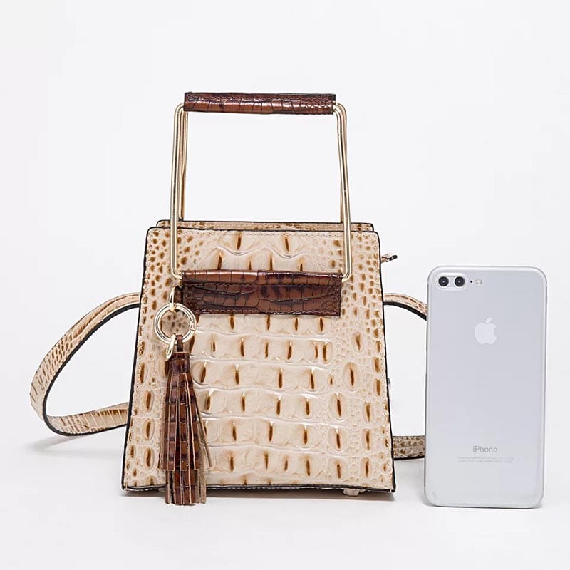 Steel Supplier In China Travel Carry On Suitcase - Leather Handbag-Crocodile skin-67034 – Zhongxi