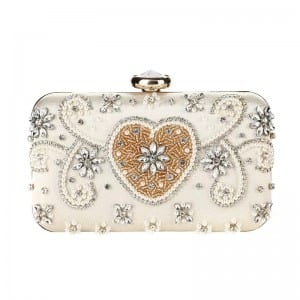 Stone Coated Roofing Tile Cosmetic Bag Rectangle - Banquet Handbag-Crystal decoration handbag-A – Zhongxi
