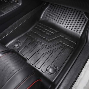 All Weather Luxury Custom Car Floor Mats Rubber For Women For Fortuner