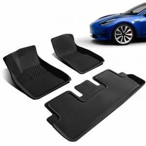 Waterproof Car Foot Mat Tesla Model 3 Universal Car Mats For Women