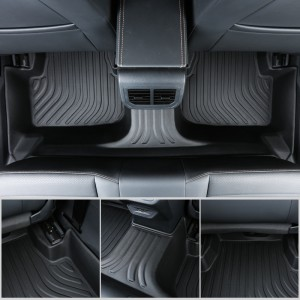 Professional All Weather TPE Black Car Mats Floor Liners For Infinit Qx60