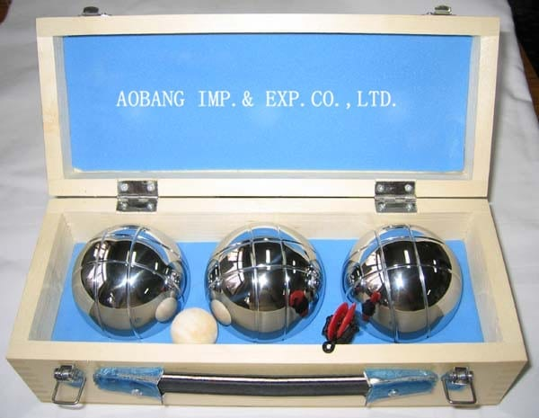 High Performance Buy Paper Cups Online - Three Balls Bocce Petanque In Wooden Case – Aobang
