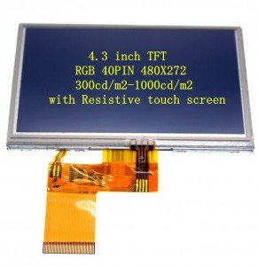4.3′ TFT 480X272 RGB 40PIN IPS