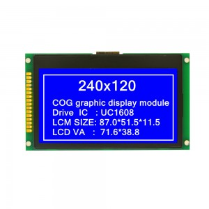 COG graphic dot matrix LCD module 240120COG