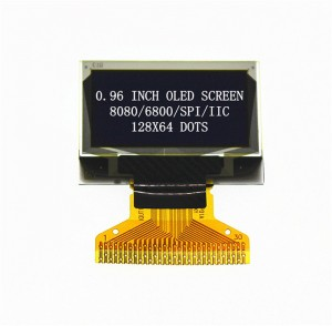 0.96′ OLED 128X64 30PIN SPI/IIC/Parallel