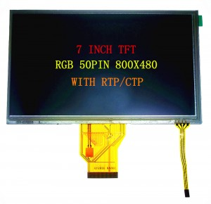 7.0′ TFT 800X480 RGB 50PIN WITH RTP/CTP