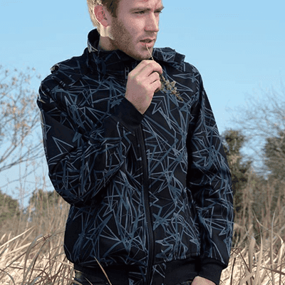 High definition Winter Mens Softshell Boned Fleece Jacket -