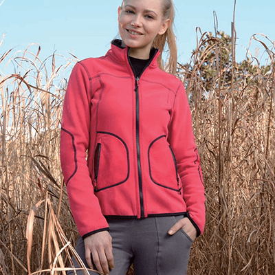 Factory wholesale Ladies Marled Fleece Jacket -