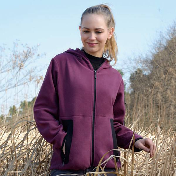 Factory wholesale Ladies Knitted Fleece Jacket -