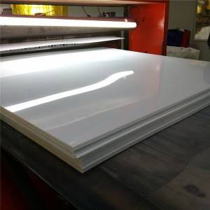 Sa bubble keneleng metsi 4 × 8 Foot 2mm Thick benyang White Hard PVC Plastic