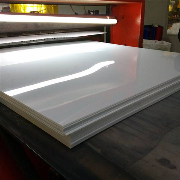 Hindi Pabulahin Waterproof 4 × 8 Foot 2mm Makapal Glossy White Hard PVC Plastic Itinatampok na Larawan