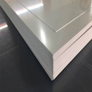Sheet PVC gloss sare White