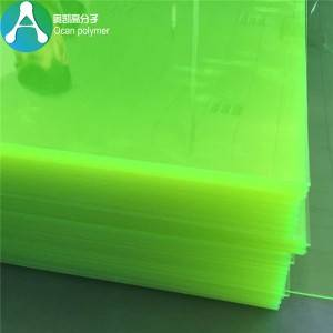 fluorescent clear green Plastic PVC Sheet