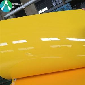 PVC plastic sheet talis color rigidum