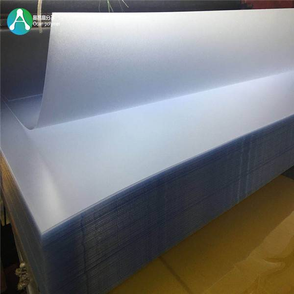 Factory supplied Pvc Plastic Roll Film - Frosted Clear embossed high quality rigid pvc sheet price – OCAN Polymer
