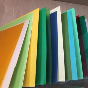 China OEM Transparent Esd Curtain - Color rigid PVC Sheet – OCAN Polymer
