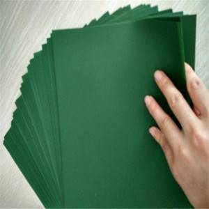 2017 Good Quality Plastic Sheet With Holes - Matte green PVC Sheet/film material for artificial grass – OCAN Polymer