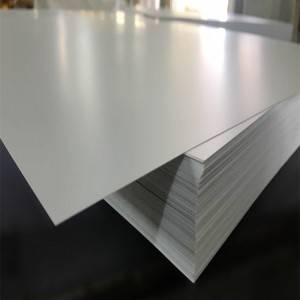 White matte rigid PVC Karatasi 0.2-6mm unene