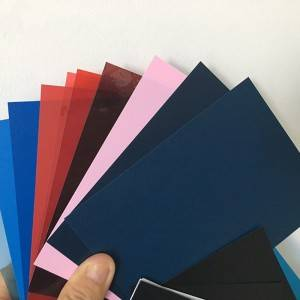 Nativus color rigidum PVC 0.2-6mm crassitudine Sheet