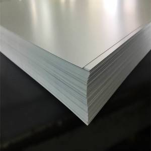 White matte estriktong PVC Sheet 0.2-6mm gibag-on