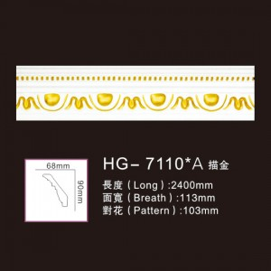 Effect Of Line Plate-HG-7110A outline in gold