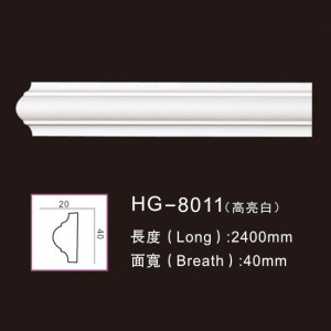 Factory Cheap Anti-Flaming Polyurethane Trim Moulding - PU-HG-8011 highlight white – HUAGE DECORATIVE