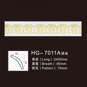 Best Price on Pu Cornice Crown Moulding Material - Effect Of Line Plate-HG-7011A outline in gold – HUAGE DECORATIVE