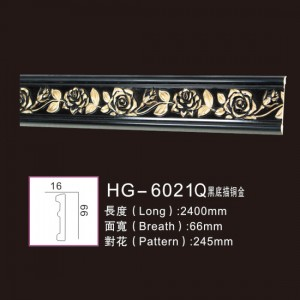 OEM Customized Pine Crown Moulding - Effect Of Line Plate1-HG-6021Q Black Bottom Tracing Copper and Gold – HUAGE DECORATIVE