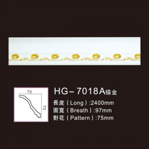 High Quality Polyurethane Corbels - Effect Of Line Plate-HG-7018A outline in gold – HUAGE DECORATIVE