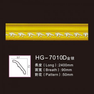 Effect Of Line Plate-HG-7010D gold silver
