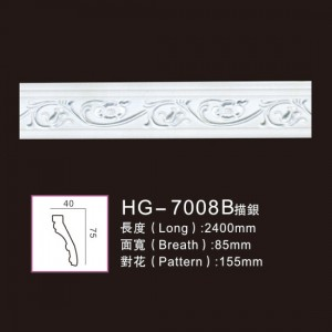 Effect Of Line Plate-HG-7008B outline in silver