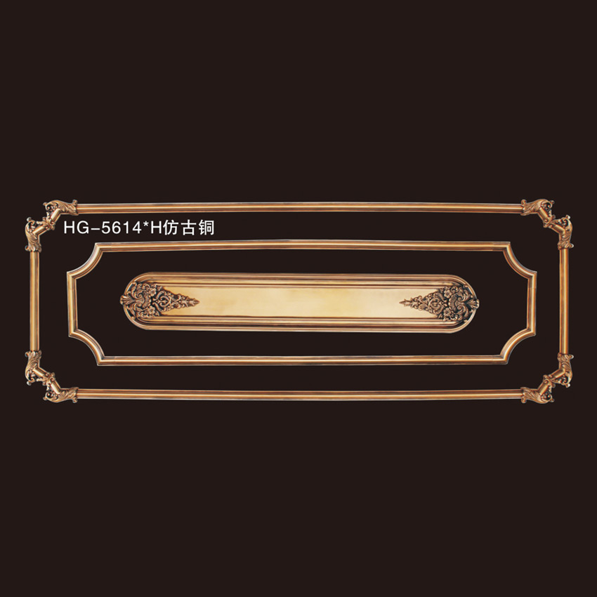 2019 High quality Crown Molding - Elegant Corner & Frames-HG-5614H Antique copper – HUAGE DECORATIVE Featured Image