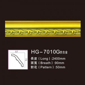 New Arrival China Ceilling Cornice Moulding - Effect Of Line Plate1-HG-7010G Antique Gold – HUAGE DECORATIVE