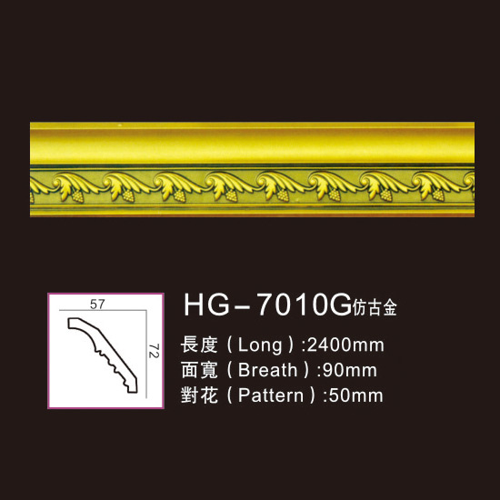 OEM Customized Resin Corbels - Effect Of Line Plate1-HG-7010G Antique Gold – HUAGE DECORATIVE Featured Image