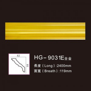 Lowest Price for Sport Award Medallion - Effect Of Line Plate-HG-9031E full gold – HUAGE DECORATIVE